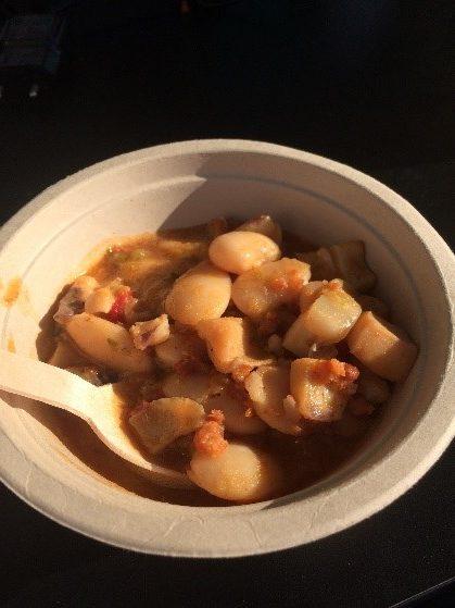 Beans with cuttlefish Vigo Seafest